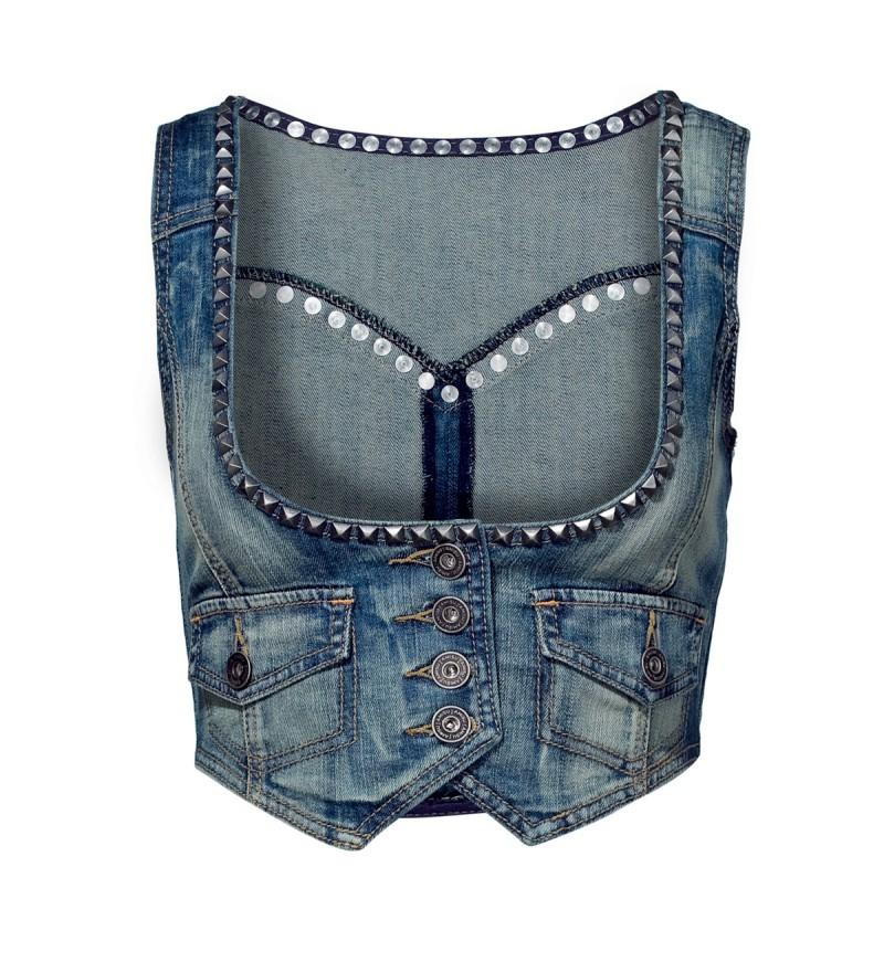 niebieska kamizelka New Yorker dżinsowa - kolekcja wiosenna