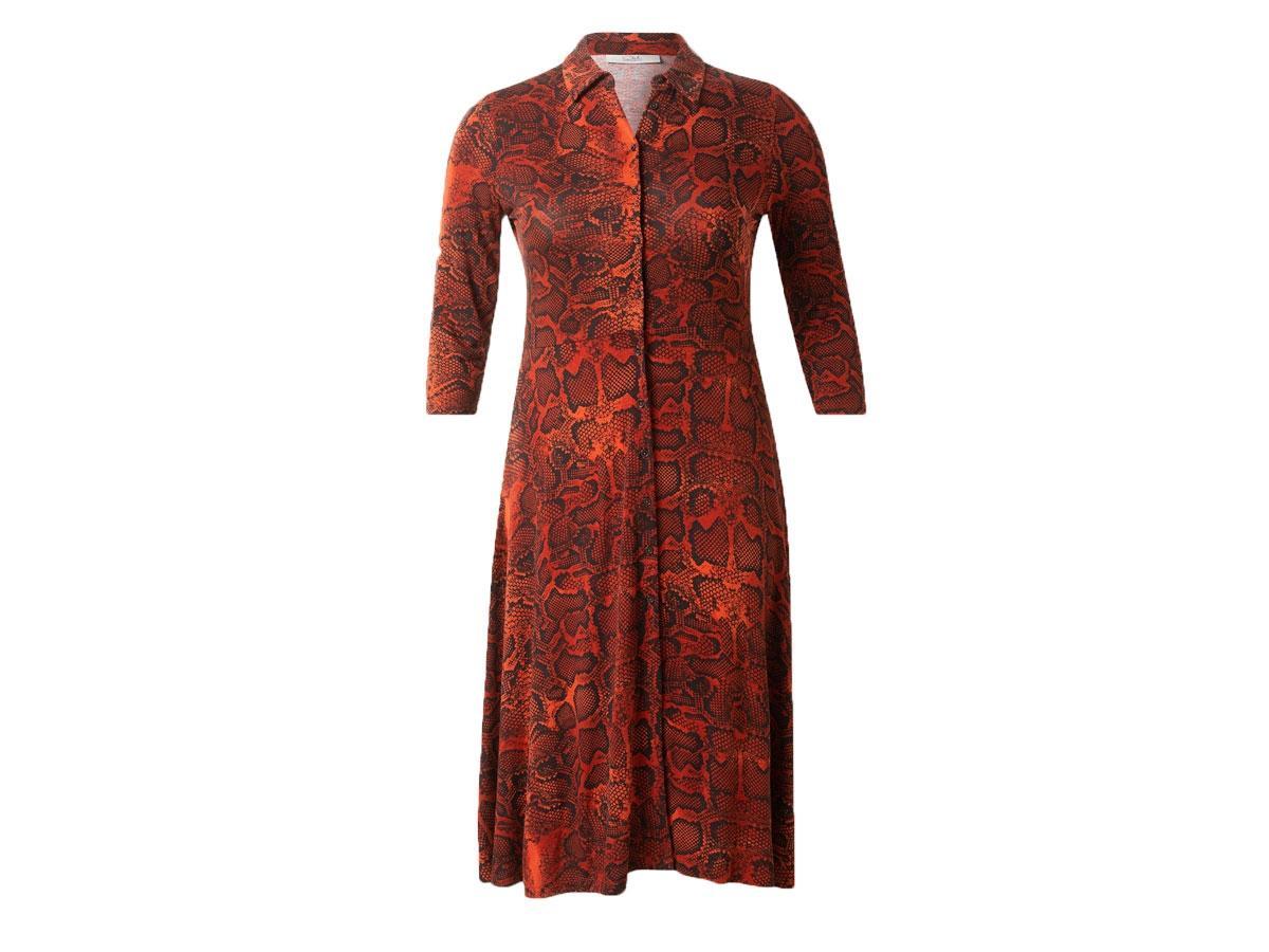 Koszulowa sukienka w wężowy wzór, C&A, cena ok. 129,00 zł