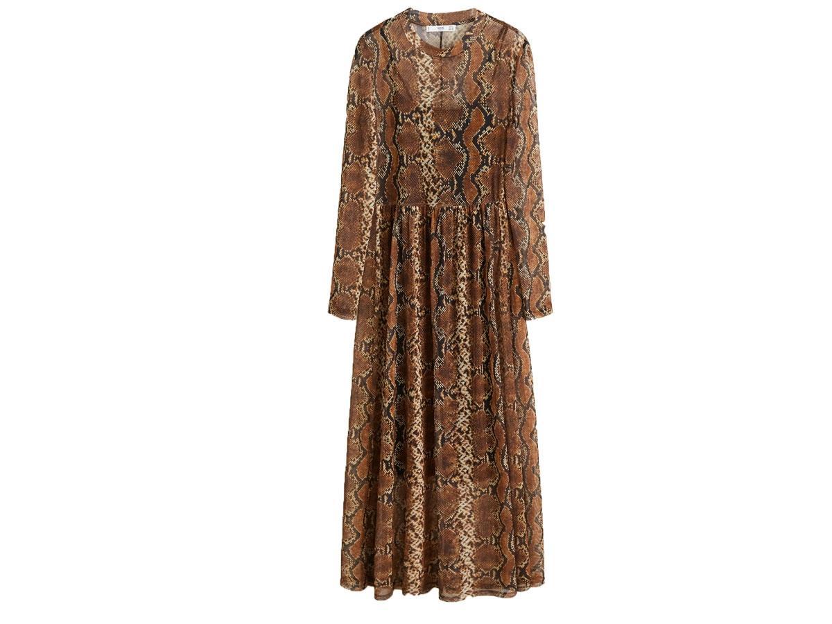Sukienka maxi w panterkę, Mango, cena ok. 199,90 zł