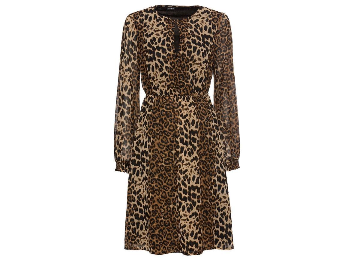 Sukienka midi w panterkę, Bonprix, cena ok. 149,99 zł
