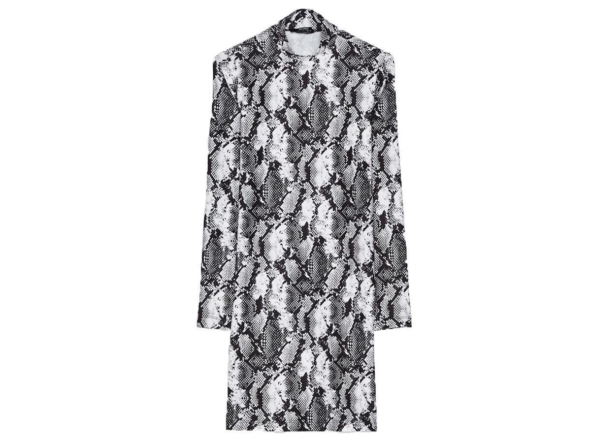 Sukienka w wężowy wzór, Bershka, cena ok. 69,90 zł