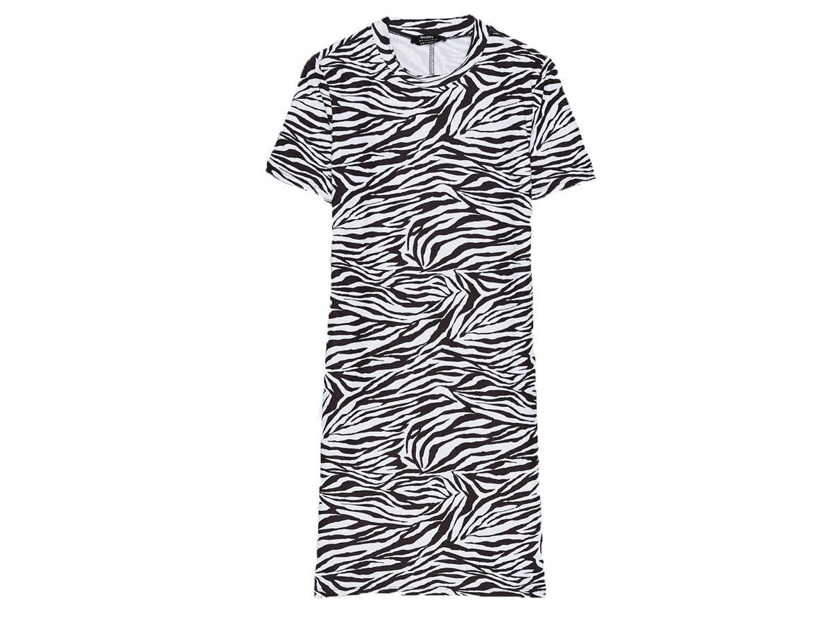 Sukienka w zeberkę, Bershka, cena ok. 69,90 zł