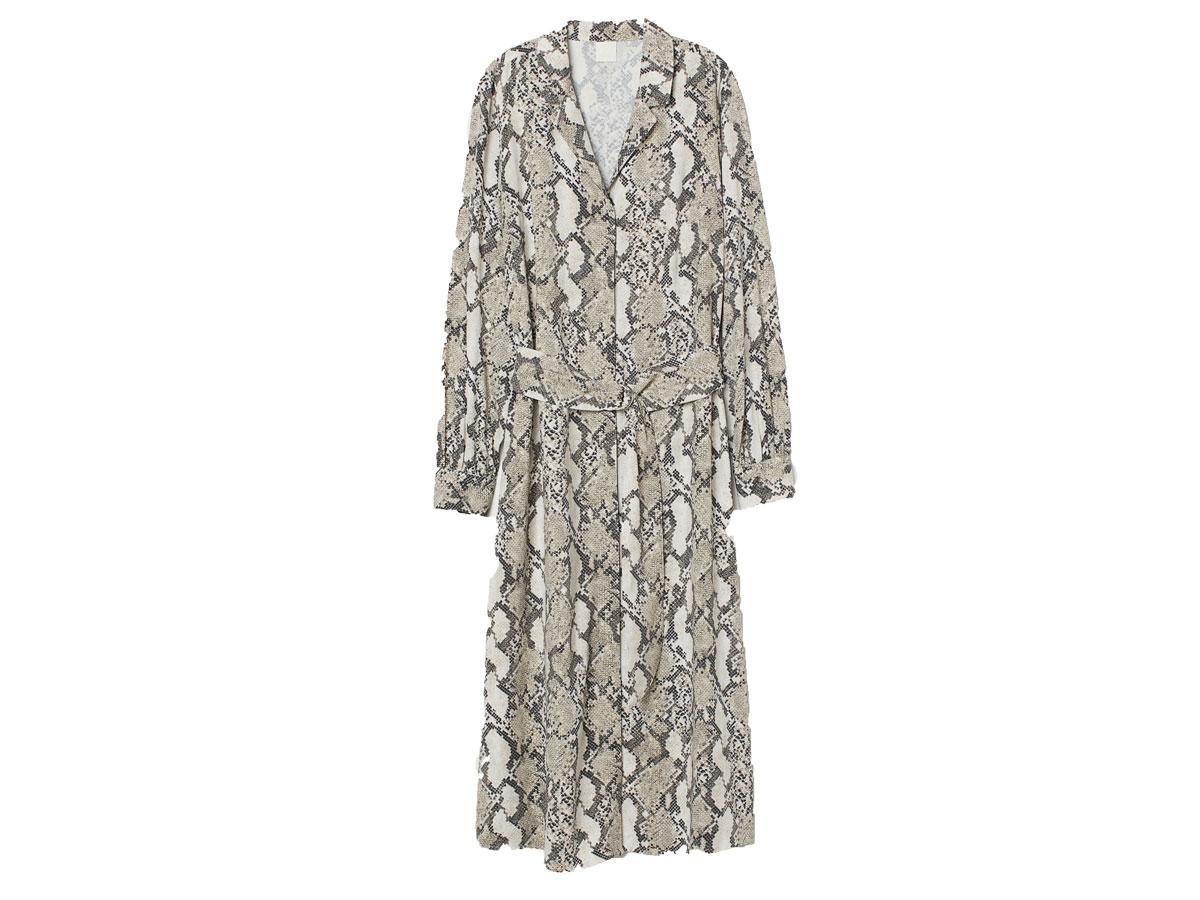 Sukienka w zwierzęcy wzór, H&M, cena ok. 129,99 zł