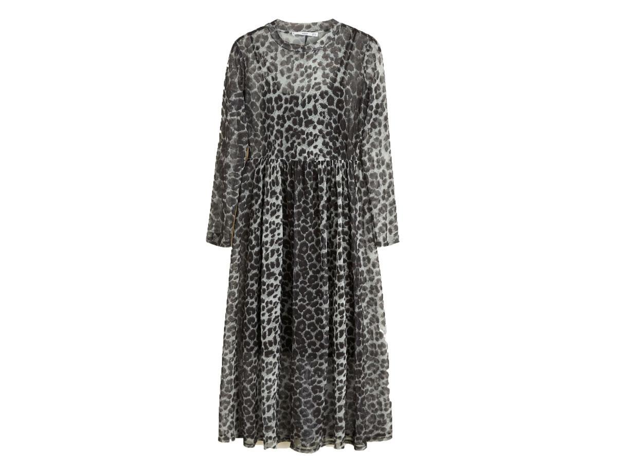 Transparentna sukienka w zwierzęcy print, Mango, cena ok. 199,90 zł