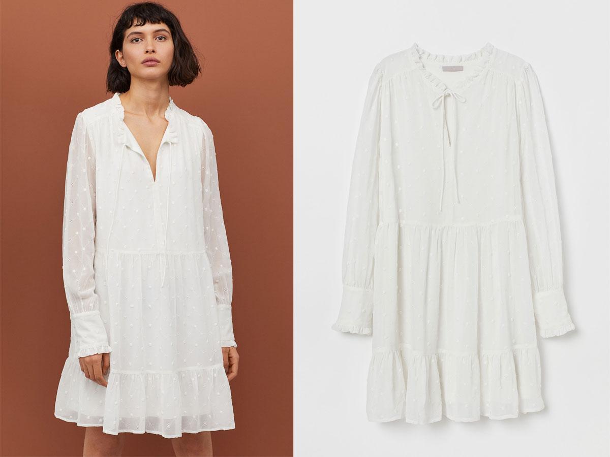 Biała sukienka na lato, H&M, cena ok. 179,00 zł