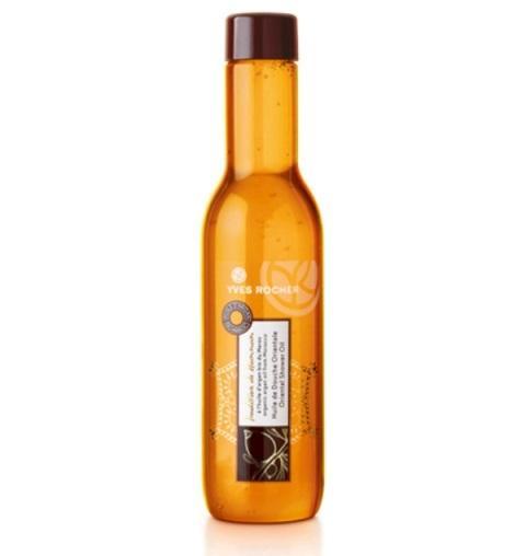 Olejek pod prysznic wzbogacony w olejek arganowy,który  odżywia skórę. Yves Rocher, około 22 zł