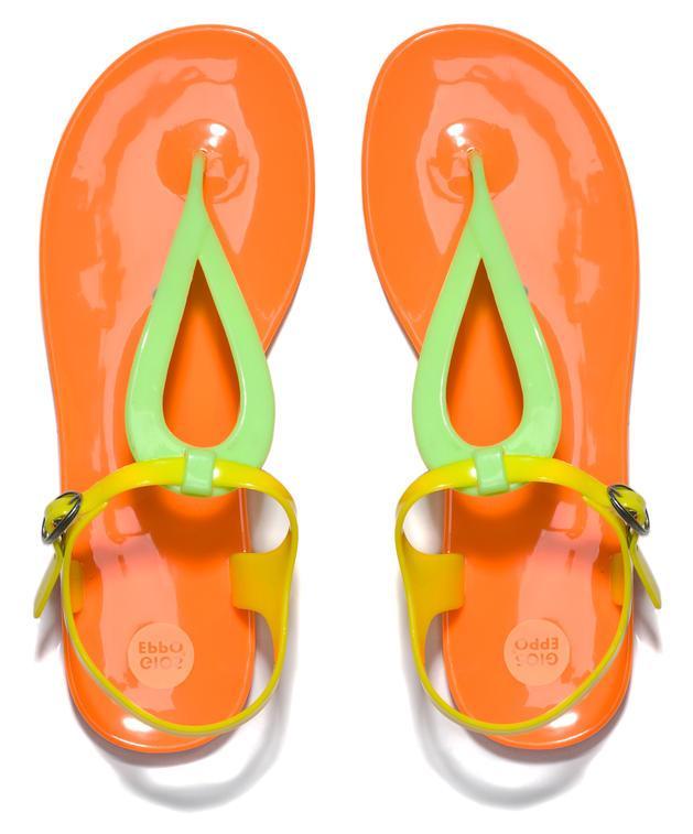 pomarańczowe sandałki Badura - buty na lato