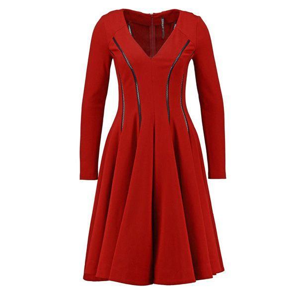 Czerwona sukienka Plein Sud Jeanius, cena