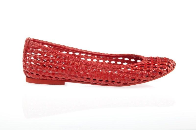 czerwone baleriny Prima Moda - wiosenna kolekcja
