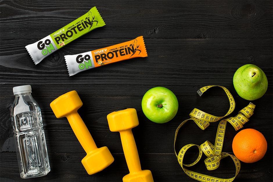 Batony proteinowe GO ON – przekąska dla aktywnych