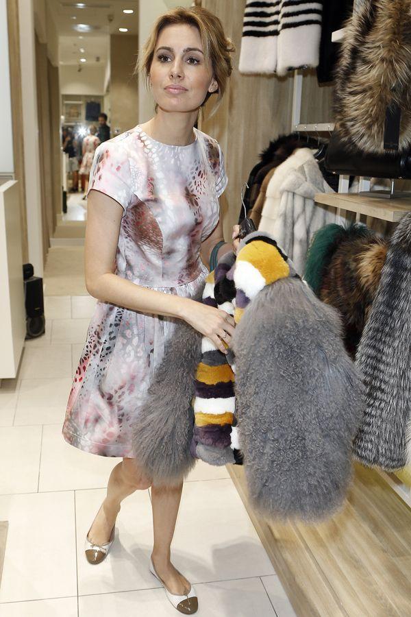 Agnieszka Popielewicz na otwarciu butiku