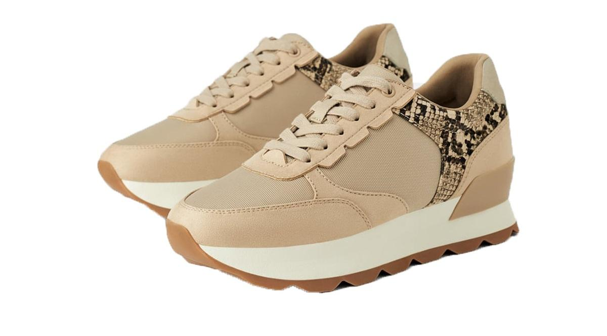 Beżowe sneakersy Zara