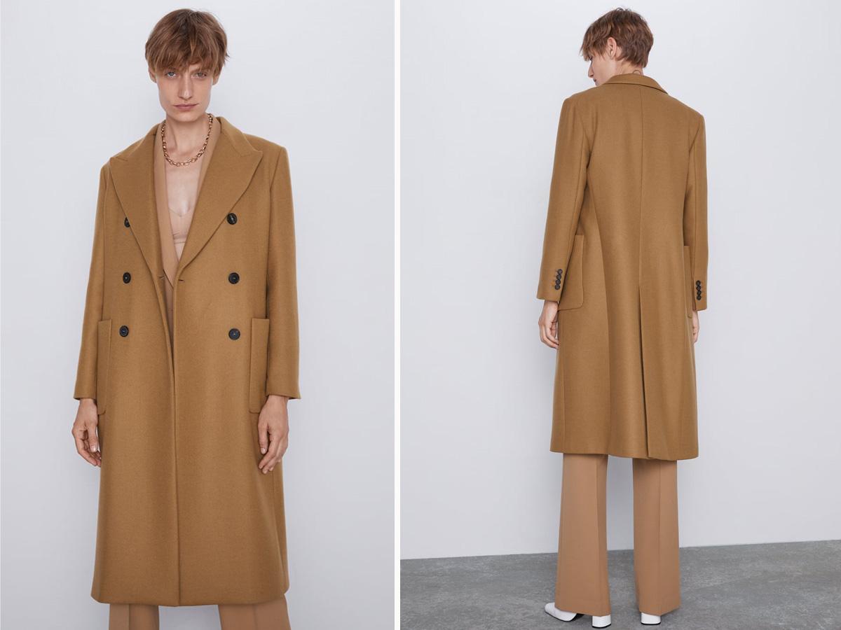 płaszcz zara beżowy 2019