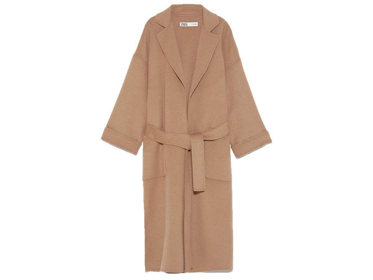 beżowy płaszcz z Zary