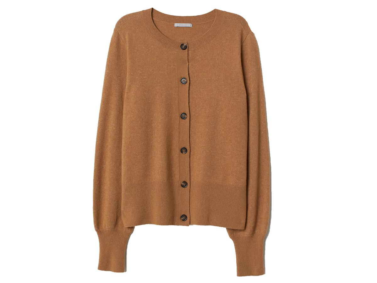 Beżowy sweter rozpinany H&M