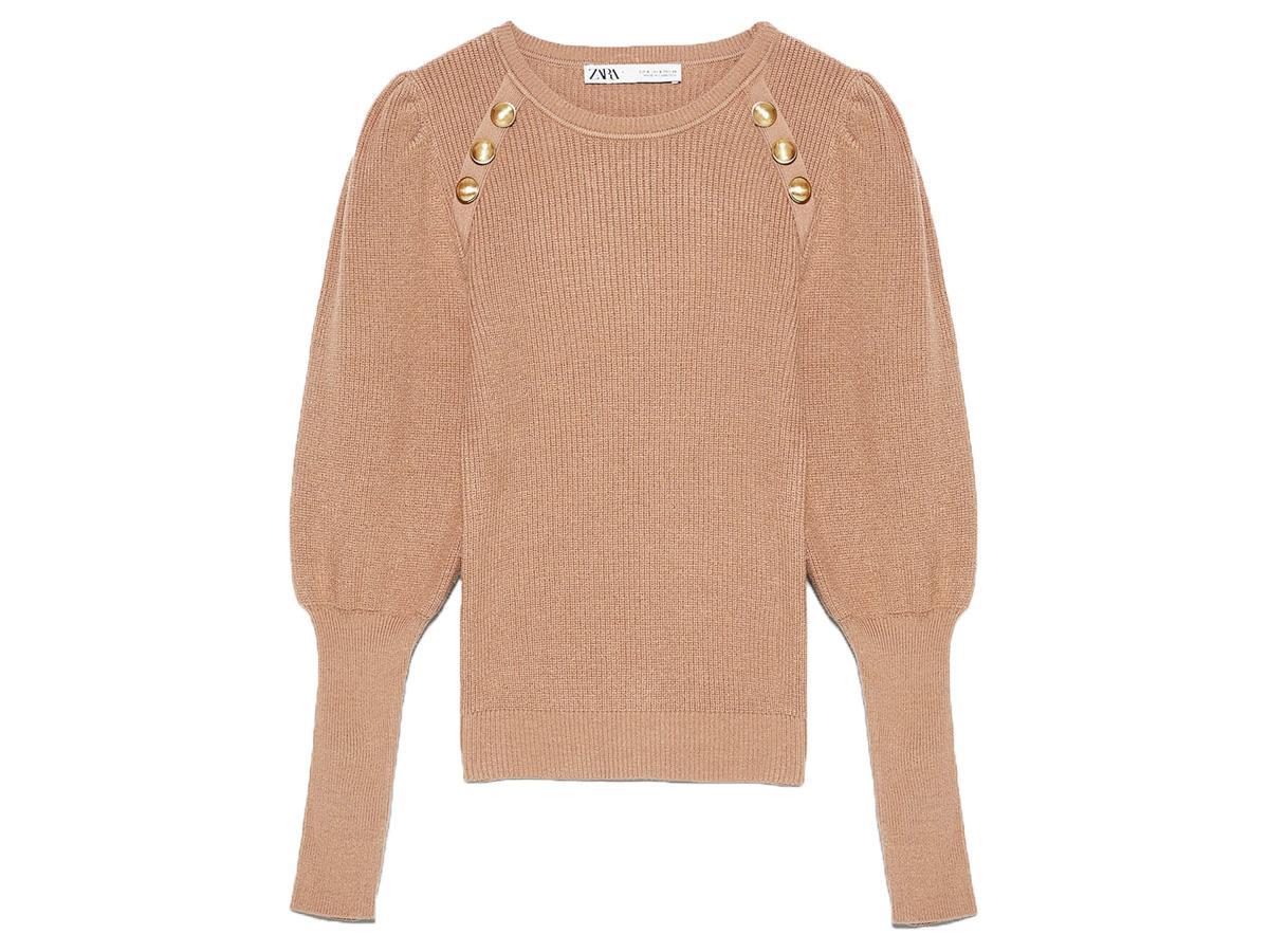 Beżowy sweter Zara