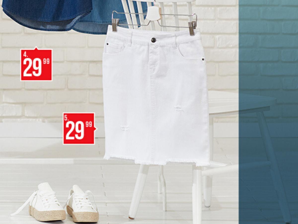 Biała dżinsowa spódnica PEPCO