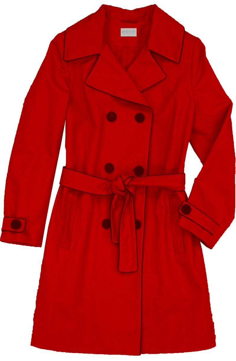 czerwony płaszczyk Bialcon - kolekcja wiosenno/letnia