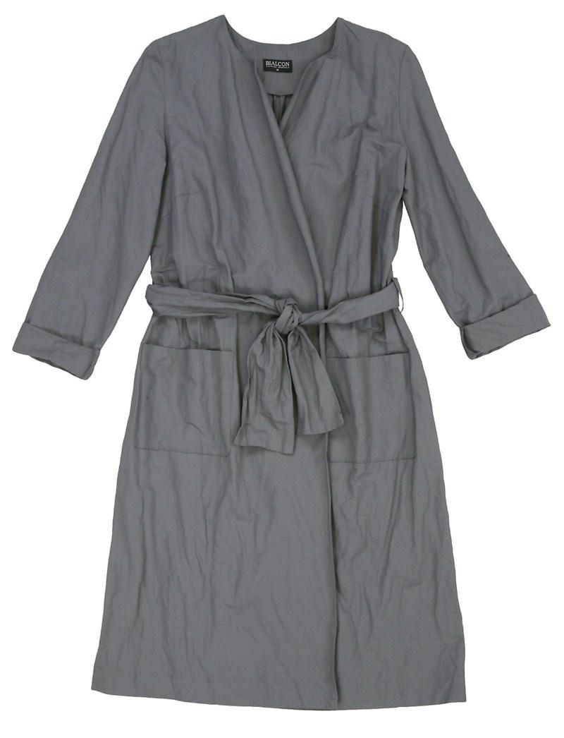 popielaty płaszczyk Bialcon - z kolekcji wiosna-lato 2011