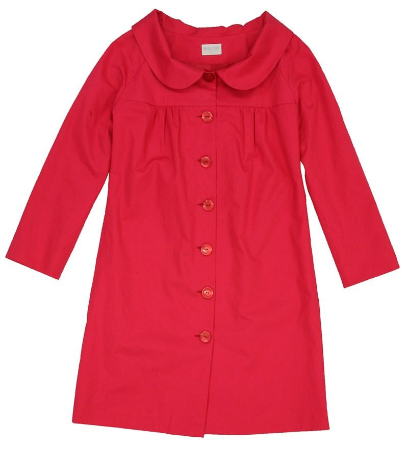 czerwony płaszczyk Bialcon - letnia kolekcja