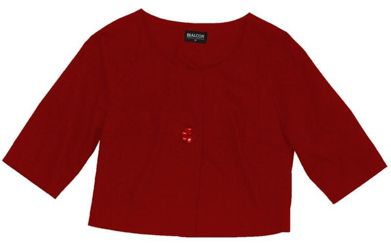 czerwone bolerko Bialcon - kolekcja wiosenno/letnia