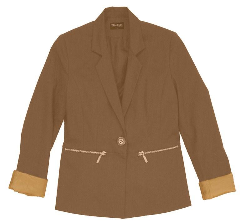 brązowy żakiet Bialcon - kolekcja na lato