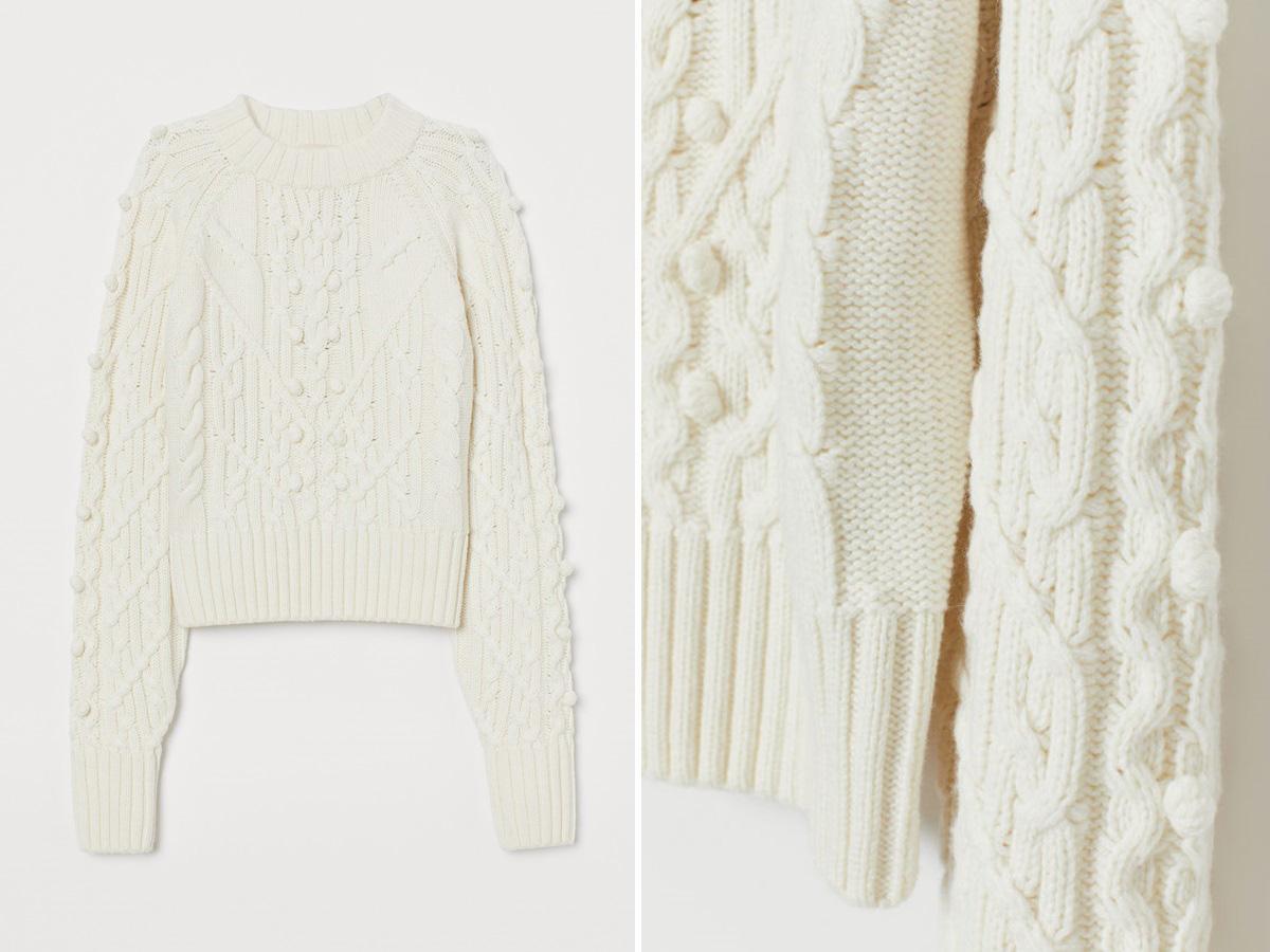 biały sweter z H&M