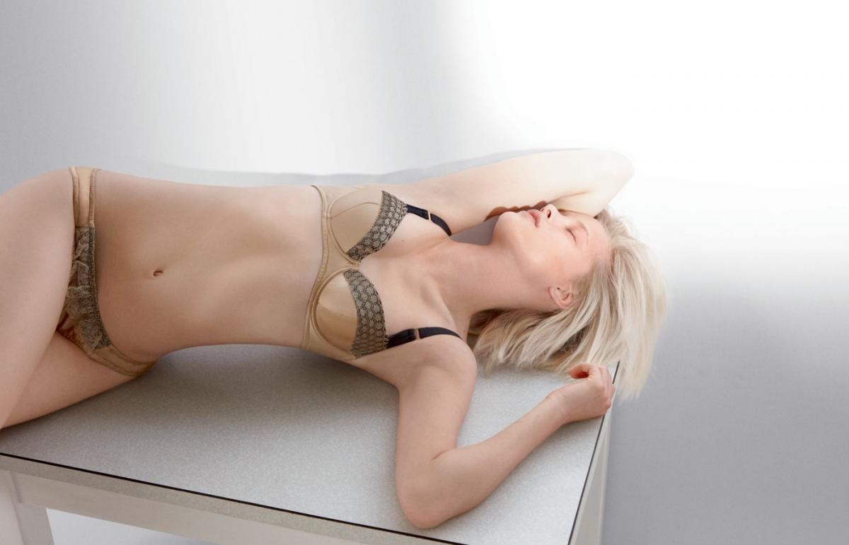 beżowa bielizna Stella McCartney - moda 2011