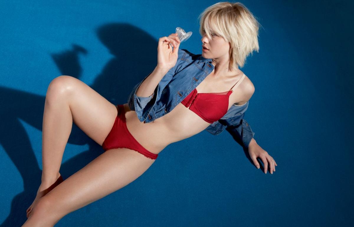 czerwona bielizna Stella McCartney - moda 2011