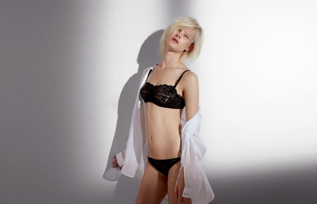 czarna bielizna Stella McCartney - moda 2011