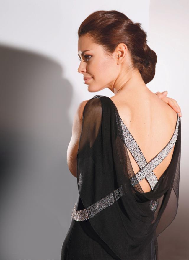 suknia, modelka