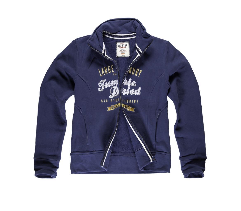 granatowa bluza Big Star rozpinana - wiosenna kolekcja