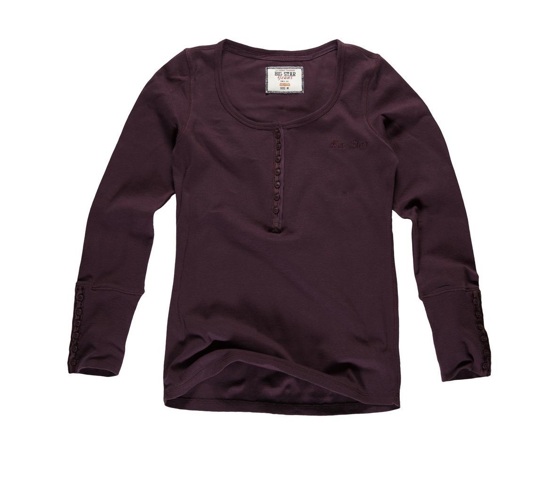 brązowa bluzka Big Star z guzikami - wiosna/lato 2011