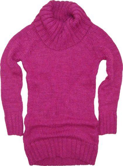 różowy sweter Big Star z golfem - wiosna/lato 2011