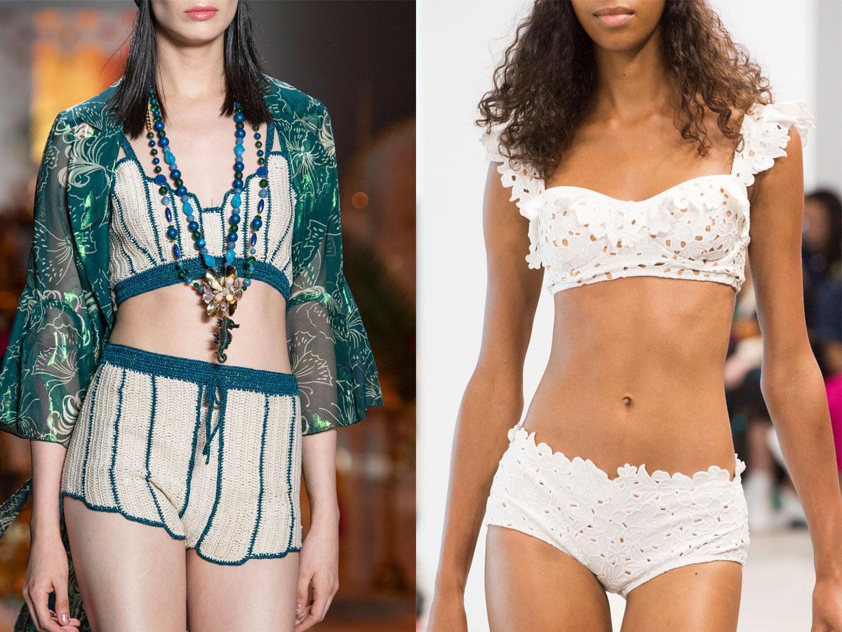 Bikini, stroje dwuczęściowe w stylu boho na lato 2019