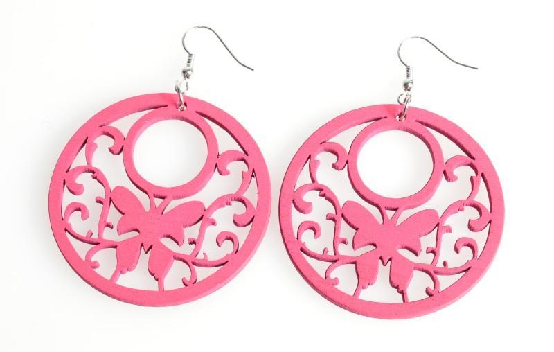 różowe kolczyki Stereo - sezon jesienno-zimowy