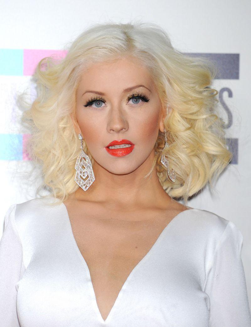 Christina Aguilera jako blondynka