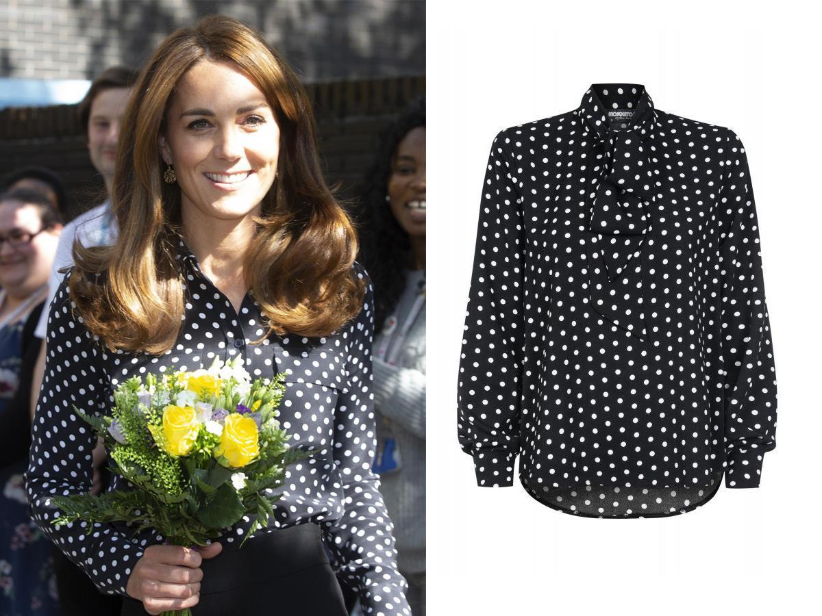 bluzka w groszki jak księżnej Kate
