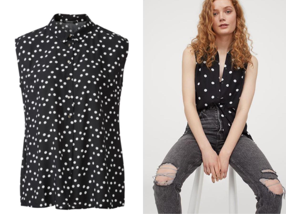 H&M bluzka w kropki