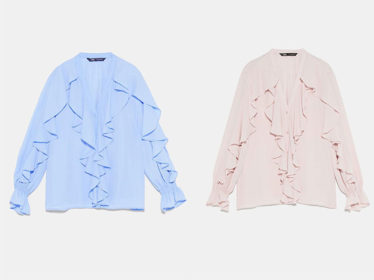Bluzka z falbankami - Zara wiosna lato 2019