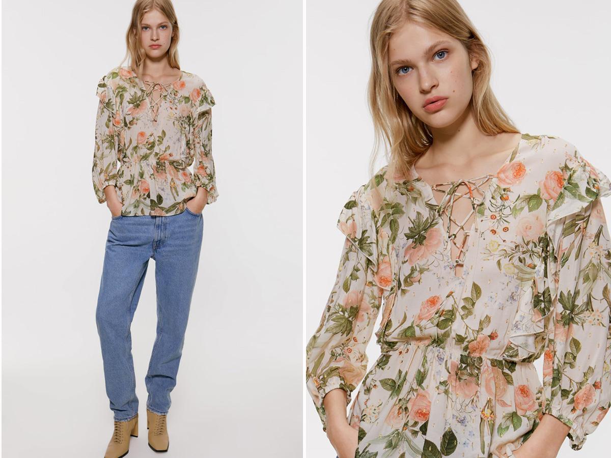 Bluzka w kwiaty Zara