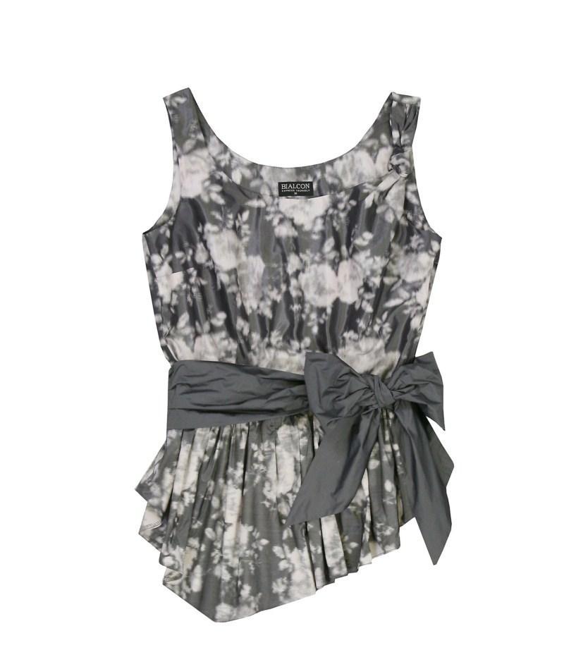 szara bluzka Bialcon w kwiaty - wiosna/lato 2011