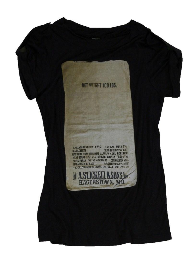 czarna bluzka Bialcon z nadrukiem - kolekcja wiosenno/letnia