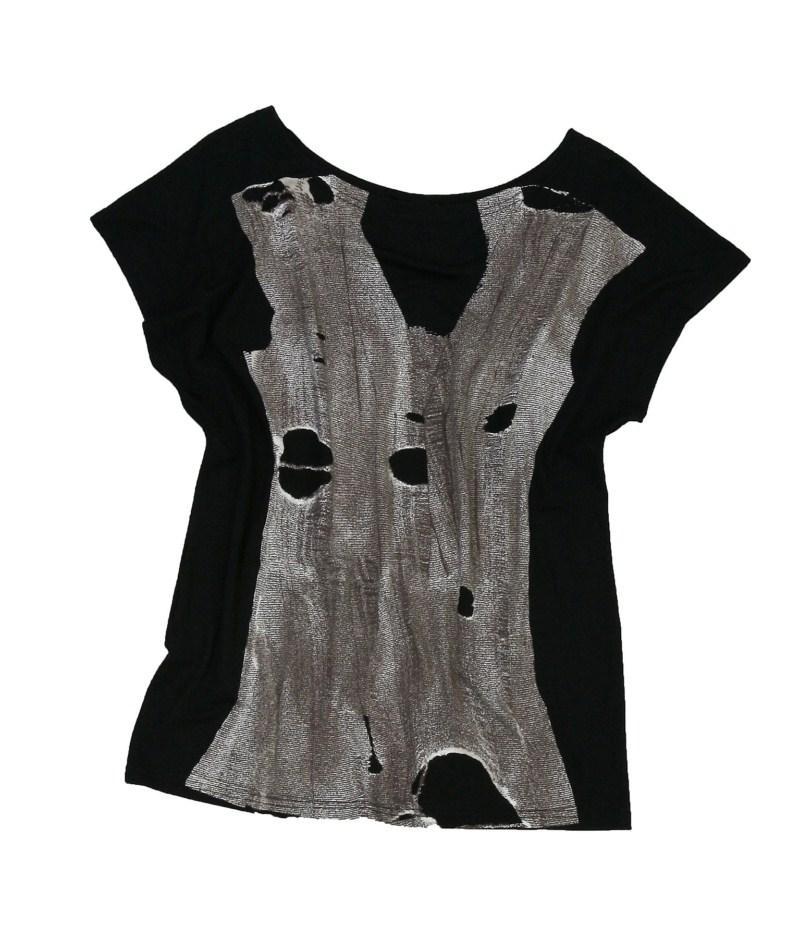 czarna bluzka Bialcon z nadrukiem - kolekcja letnia