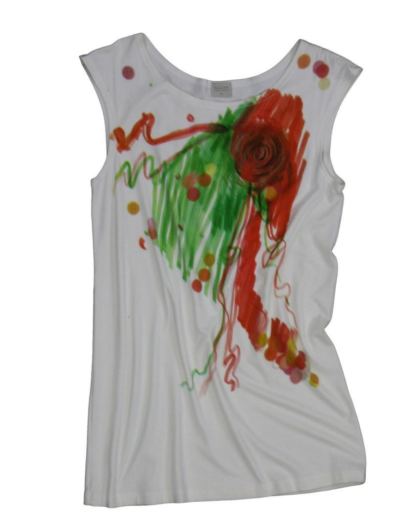 biała bluzka Bialcon z nadrukiem - wiosna/lato 2011