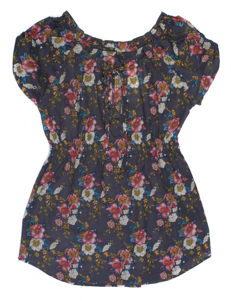 czarna bluzka Carry w kwiaty - wiosna/lato 2011