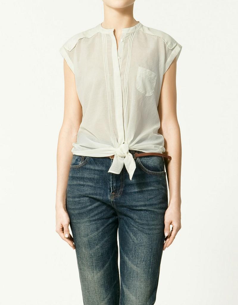 biała koszula ZARA - moda wiosna/lato