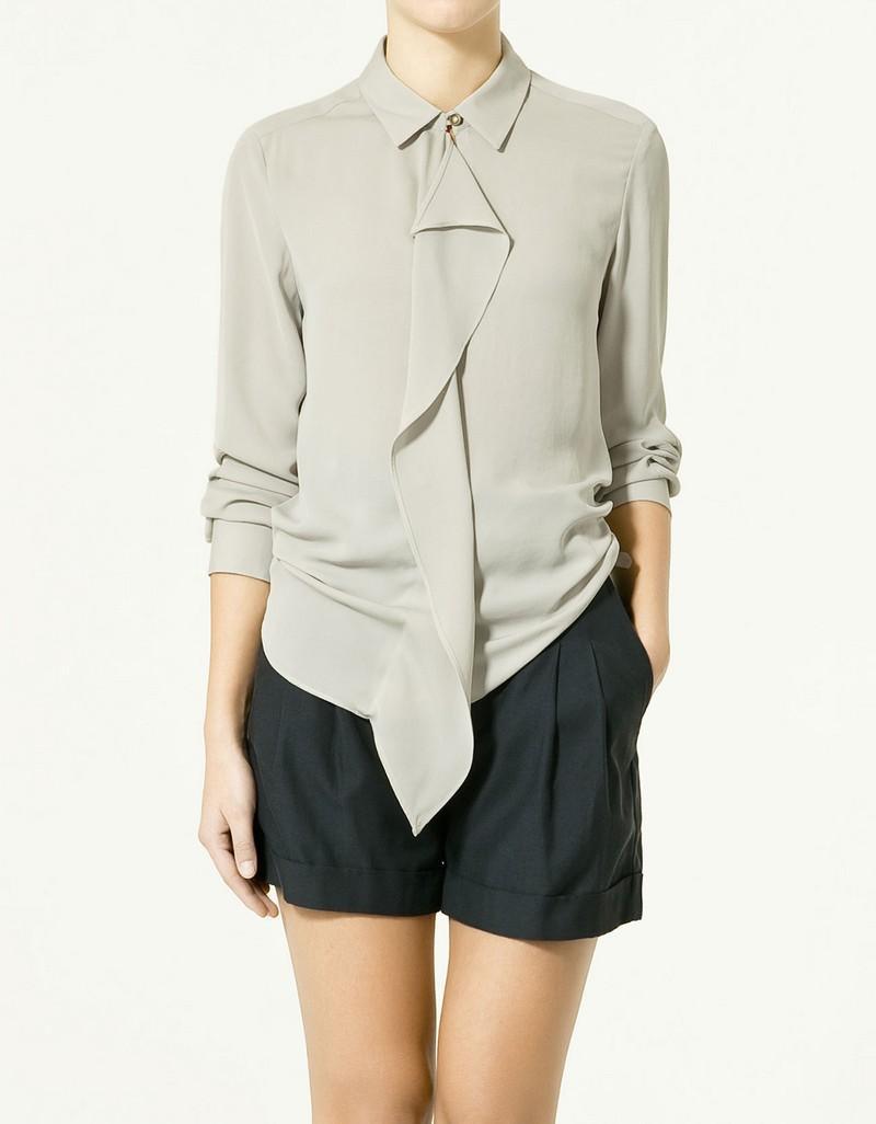 szara bluzka ZARA - z kolekcji wiosna-lato 2011