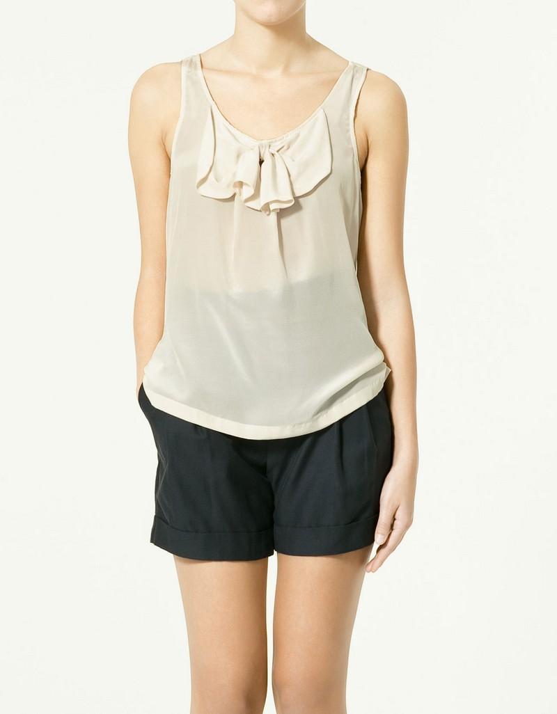 ecru bluzka ZARA - kolekcja na lato