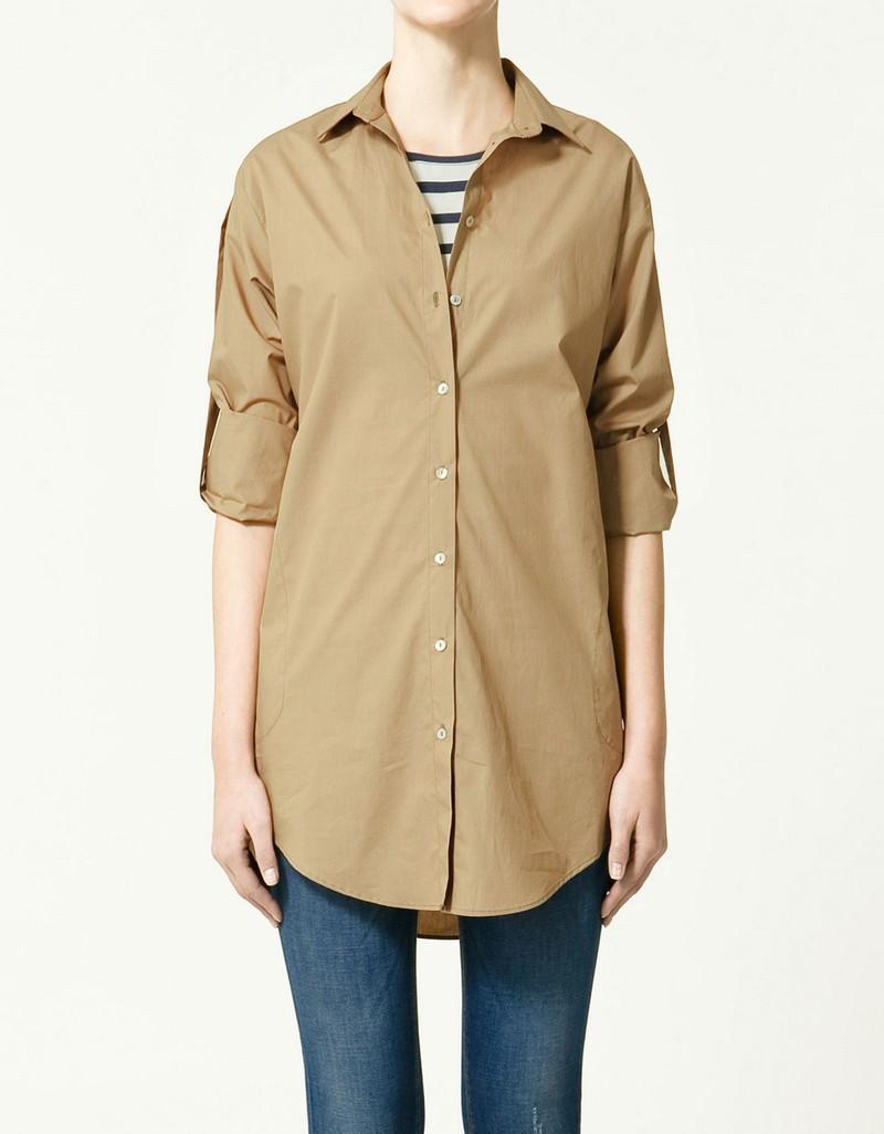 beżowa koszula ZARA - trendy wiosna-lato